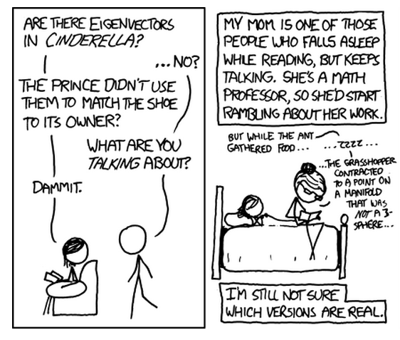 Another great xkcd take: this time eigenvectors.
