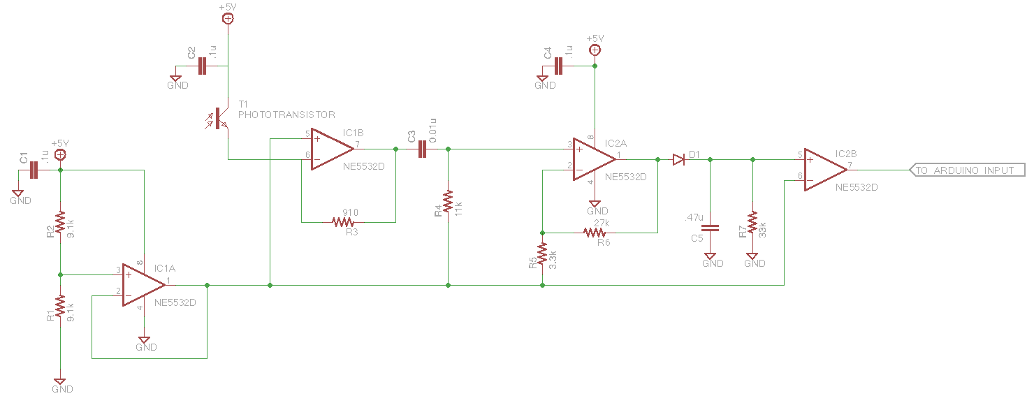 Wiring Diagram Of Ir Receiver Driving A Motor With Two Limit Switches