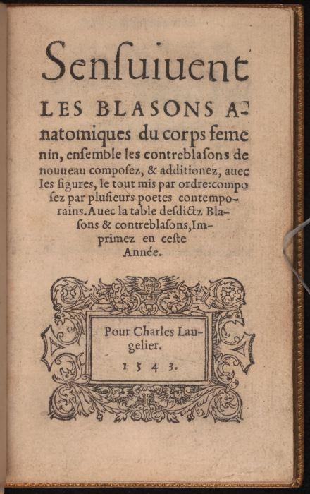 Blasons. a0. Page de titre