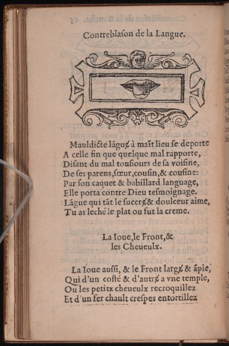 Contreblasons. p065v. Langue