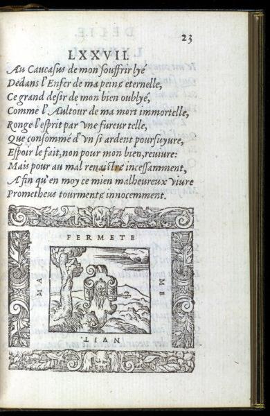 p023. Délie. La Targue