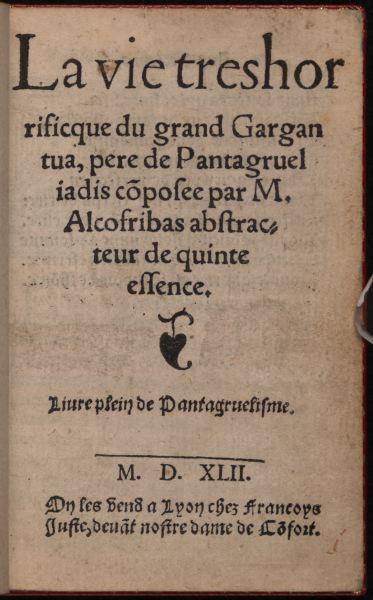 Gargantua. Page de titre