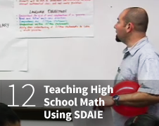Teaching High School Math usign SDAIE