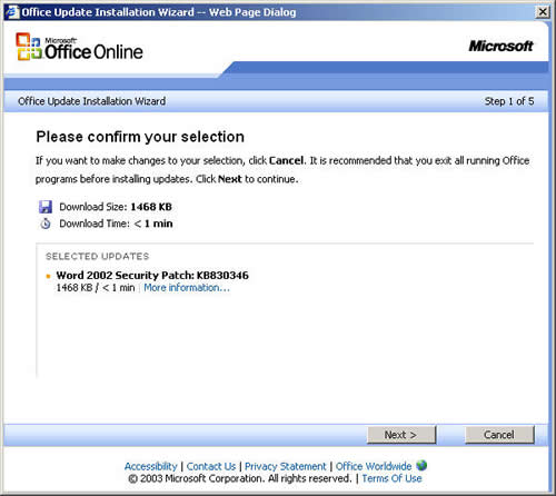 ITSS: Stanford Microsoft Office Patcher