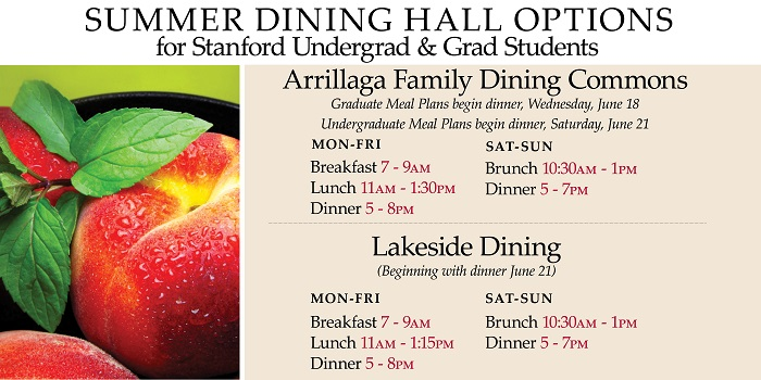 Stanford Summer Dining Hours