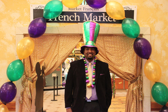 General Manager Kahlil Wells is prepared for Mardi Gras at Lakeside