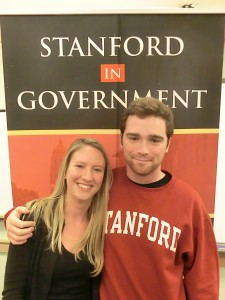 The Campus-Community Partnerships committee (left to right): Amy Showen and Matthew Colford (not pictured: Gillie Collins and Karen Carpenter)
