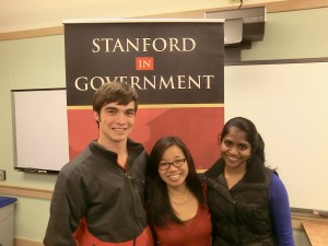 International fellowships committee (left to right): Kyle Vandenberg, Crystal Lee, Anisha Mudaliar (not pictured: Yihwan Kim, Chan ChiLing, and Michael Chen)