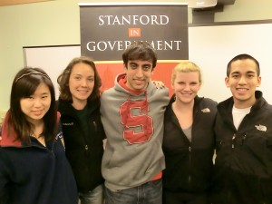 The State/Local fellowships committee (left to right): Flora Wang, Sydnee Journel, Dylan Conn, Hillary Anderson, Augie Ilag
