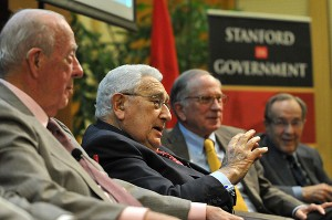The Nuclear Quartet event featured anti-proliferation luminaries Henry Kissinger, Sam Nunn, William Perry, and George Shultz, discussing the threat of nuclear weapons.