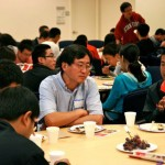 Kick-off dinner: Prof. Jun Wang with students