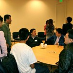 Kick-off dinner: Prof. Shoucheng Zhang with students