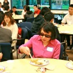 Kick-off dinner: Prof. Tienwen with students