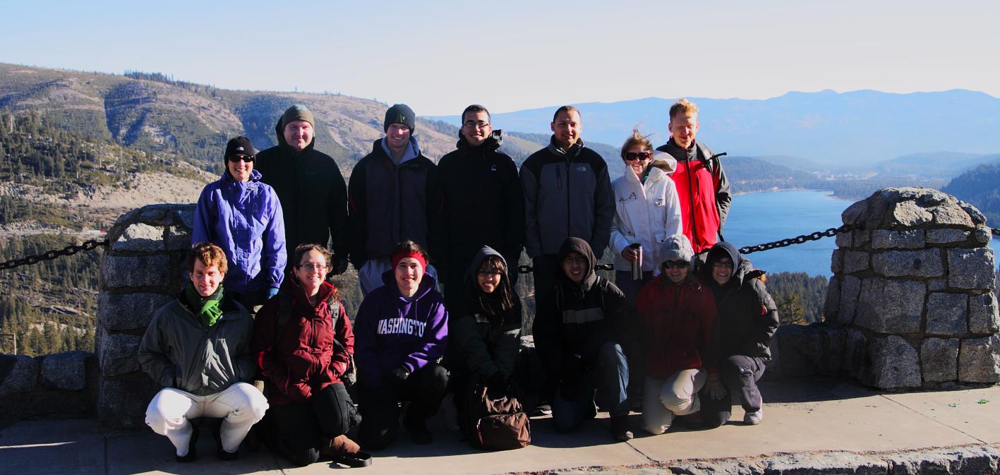 CHARM Lab members on a hiking and climbing trip near Lake Tahoe