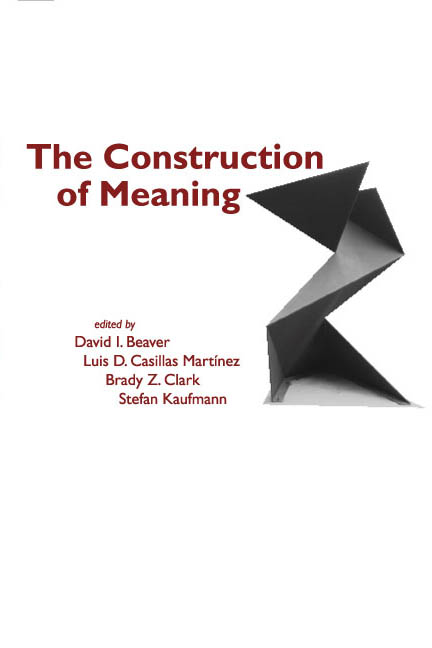 The construction of meaning for Definition construction