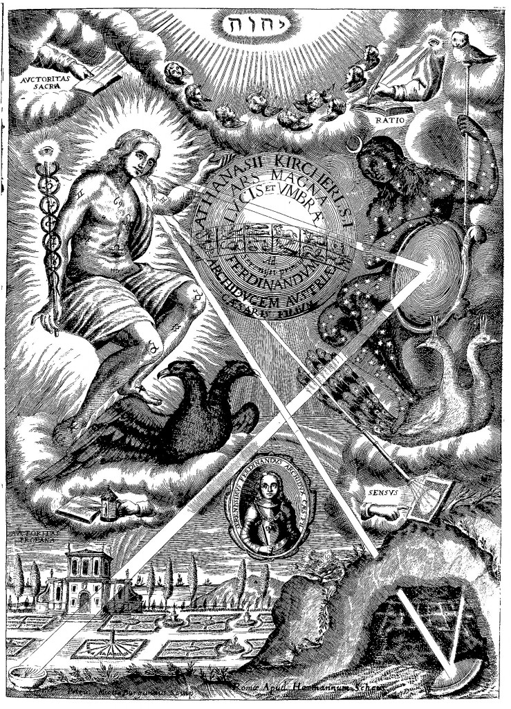 Frontispiece, from Ars Magna Lucis et Umbrae (1646 ed.)