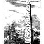 Hieroglyphic obelisk erected to honour Honoratus Ioannis, from Principis Christiani Archetypon Politicum, p. 235