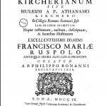 Title page, from Filippo Bonanni, Musaeum Kircherianum