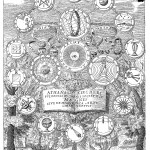 Frontispiece of Kircher'sbook on magnetism, Magnes, sive De Arte Magnetica (1641 ed.), book 3