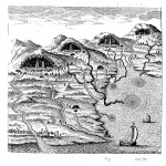 Kircher's system of springs, rivers and seas from Mundus Subterraneus (1665 edn.) vol. 1, p. 233
