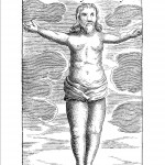 Image of Christ found in a stone from Mundus Subterraneus (1665 edn.) vol. 2, p. 36