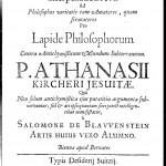 Title page of Salomon de Blauenstein, Interpellatio Brevis ... Pro Lapide Philosophorum Contra Antichymisticum Mundum Subterraneum (1667)