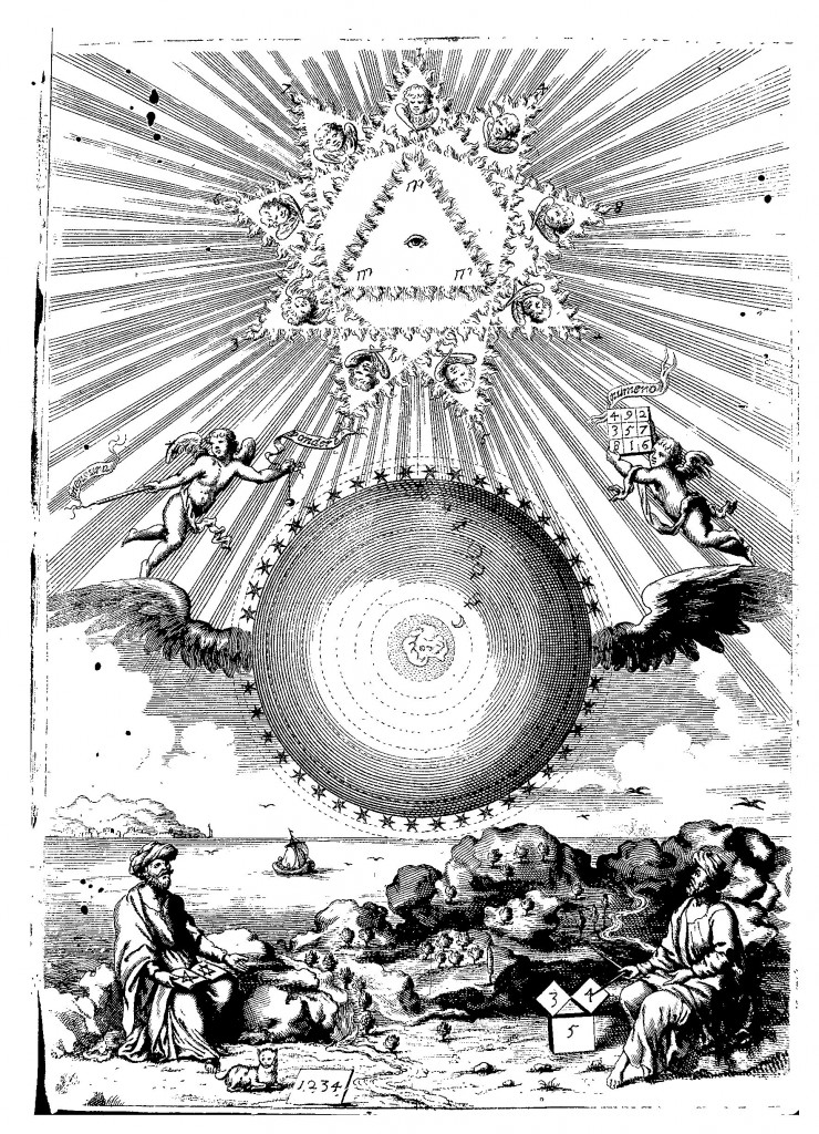 Frontispiece of Arithmologia, sive De Abditis Numerorum Mysteriis.