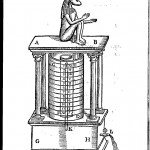 Dog-headed Egyptian water clock, from Oedipus Aegyptiacus, Tom.2, vol. 2, p. 340