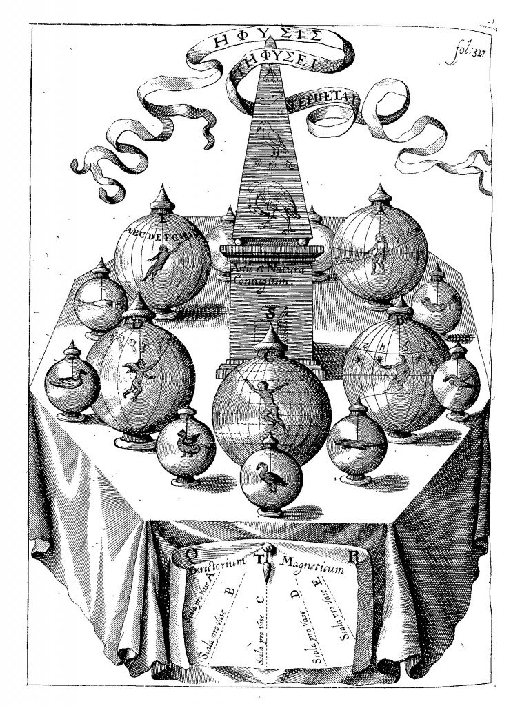 The magnetic oracle, from Magnes, sive de Arte Magnetica (1643 ed.) p. 327