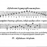 An example of musical cryptography, from Musurgia universalis, vol. 2, p. 362.