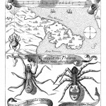 Tarantula and the musical antidote to its poison, the tarantella, from Magnes, sive de arte magnetica (1643 edn.), p. 763