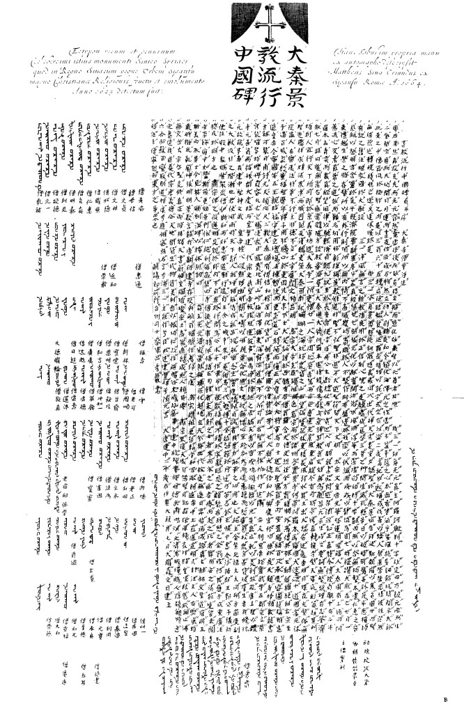Transcription of the Sino-Syriac Monument, from China Illustrata , p. 12.