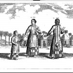 Tartar women and child, from China Illustrata , p. 69.