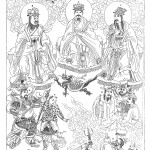 The principal deities of the Chinese, from China Illustrata , p. 137