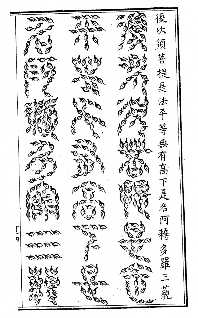 The origins of the Chinese characters according to Kircher, from China Illustrata, p.???
