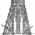The relocation of the Vatican obelisk carried out by Domenico Fontana for Sixtus V, from Oedipus Aegyptiacus, tom. 3, p. 372.