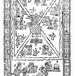 Image from an Aztec scripture depicting the mythical founding of Mexico City, from Oedipus Aegyptiacus, tom. 3, p. 32.