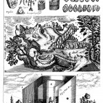 Nature as artist. Figures inscribed on stones, anthropomorphic landscape, and a portable camera obscura from Ars Magna Lucis et Umbrae (1646 ed.) p. 806
