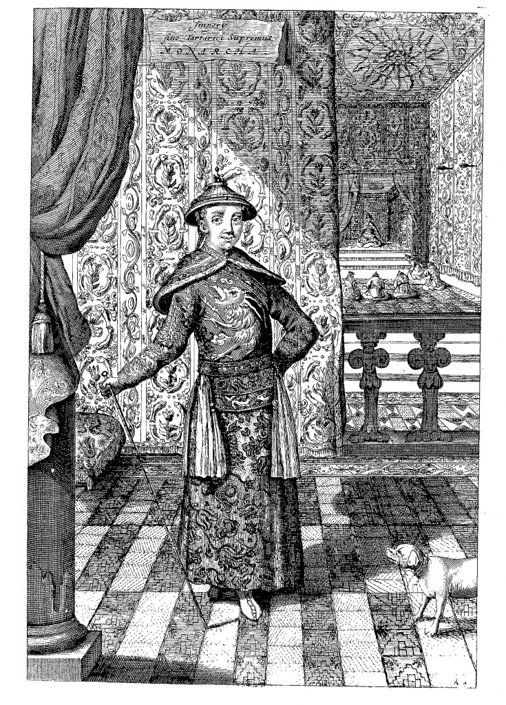 The emperor of China, from China Illustrata, p. 112