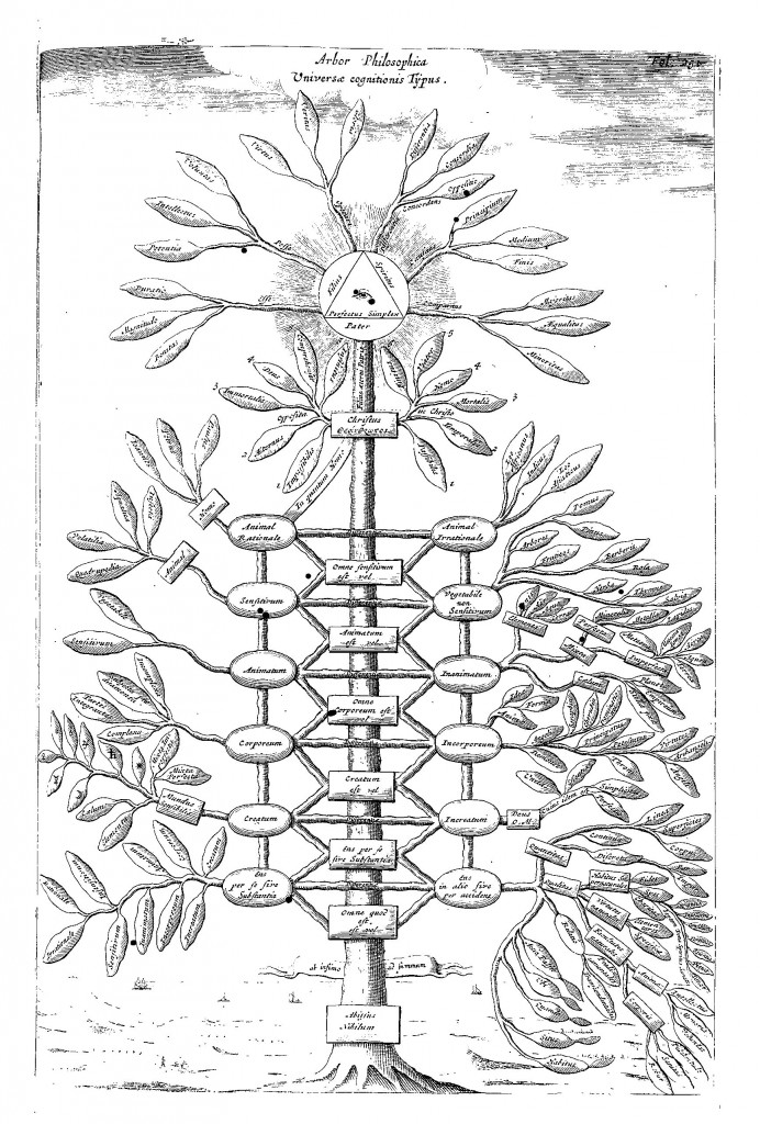 Philosophical tree representing all branches of knowledge, from Ars Magna Sciendi, p. 251.