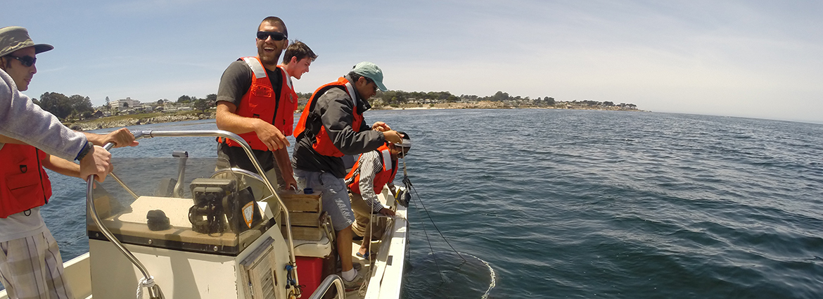 Collecting Samples in Monterey Bay