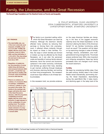 pdf-family and the great recession