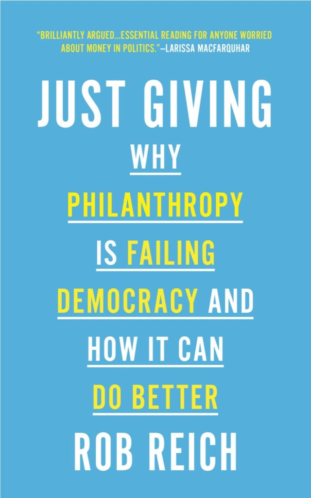 """Cover of the book """"Just Giving"""""""