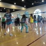 Dancing in a very full Arillaga gym