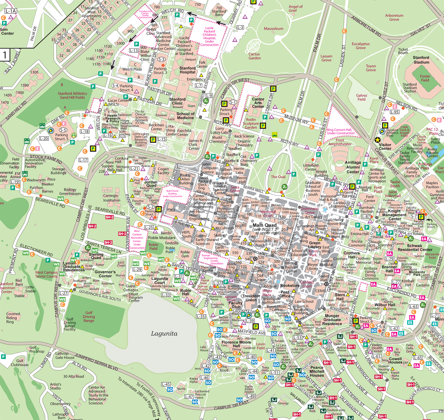 Stanford map