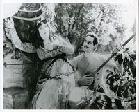 Film still from La Tosca, tropical locale? Frederick and unknown man