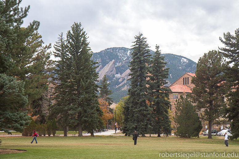 campus with flatirons