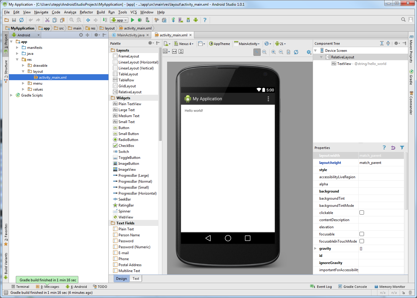 Cs 193a Android Application Development Working At Home