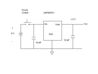 block diagram of 5 volt power supply  | 637 x 546
