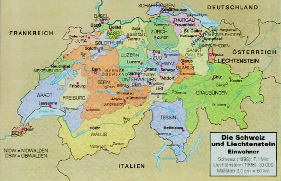German Language And Culture III - Languages map of switzerland